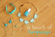 When summer rolls around, I'm always in the mood for turquoise: jewelry, nails, clothing, whatever!  It's one of those colors that doesn't really compliment my skin when I'm super fair, so when I g...