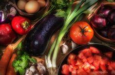 verduras - Un bodegón de verduras frescas
