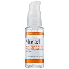 Shop Murad's Rapid Age Spot and Pigment Lightening Serum at Sephora. This treatment serum contains vitamin C to help fade and prevent dark spots and age spots.