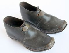 Early Pair 18th Century Child's Shoes
