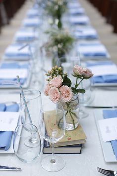 Wedding table - love the books