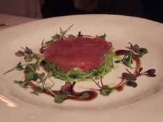 Tuna sashimi with shaved fennel