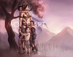 Kunti and Pandavas by molee.deviantart.com on @DeviantArt