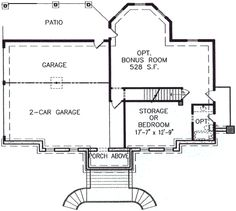Southern Style House Plan 3 Beds 2 Baths 1801 Sq Ft Plan 54 108