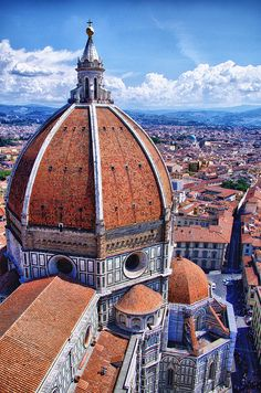 The Duomo in Florence;  Love looking down on all the teracotta roofs from there!