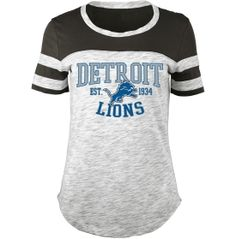 5th & Ocean Women's Detroit Lions Space Dye Grey T-Shirt - Dick's Sporting Goods
