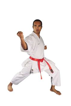 13oz High quality heavyweight fabric Kata Gi. Highest Quality uniform you will find. Maintains its sharp crisp shape and has unmatched 'snap' effect when performing fast techniques WKF Approved with Arawaza logo on shoulders in White Outstanding karate uniform for top Kata practitioners Kata gi with drawstring trousers Available in sizes 140 – 150cm
