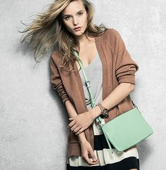 #Fossil Sydney Crossbody - Hands down, our hands-free Sydney Crossbody is the bag of the season. Freshened for spring in blooming hues and a modern square shape, this top-zip essential is the accessory for the girl on the go.