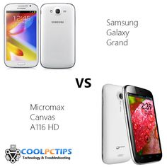 Amazing Comparison between Samsung Galaxy Grand and Micromax Canvas A116 :D Check out who wins! :D
