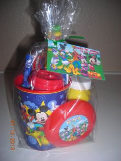 5 Filled Mickey Mouse Clubhouse Treat Goodie Favor Party Bags Birthday Boys Girls Minnie Goofy Candy Bubbles Frisbee disney on Etsy, $36.95