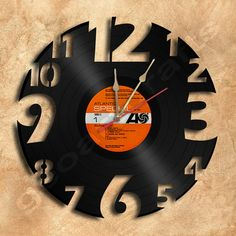 Unique Wall Clock Vinyl Record Clock Upcycled Gift Idea