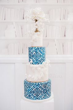 Satin Ice fondant icing is an allergy free, cake decorating tool used to make custom cakes, cookies & cupcakes. Great for weddings & birthdays! Pretty Cakes, Beautiful Cakes, Amazing Cakes, Moroccan Theme, Moroccan Wedding, Moroccan Tiles, Luxe Wedding, Wedding Details, Wedding White