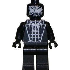 Spider-Man (Black) - Custom LEGO Minifigure Lego Black Spiderman, Lego Batman, Lego Marvel, Marvel Dc Comics, Custom Lego, Really Cool Stuff, Awesome Stuff, Building Toys, Legos