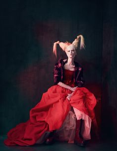 Punk up the glam, Photography and styling by Damian Foxe #fashion #editorial #red