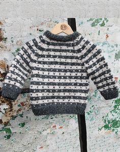 baby sweater alpaca strikkekit