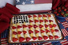 Patriotic Fruit Pizza with Pecan Shortbread Crust Recipe on Yummly. @yummly #recipe