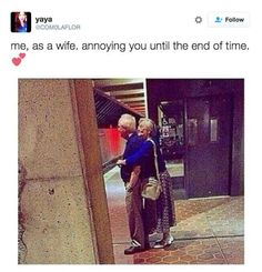 And when you think about your future together: