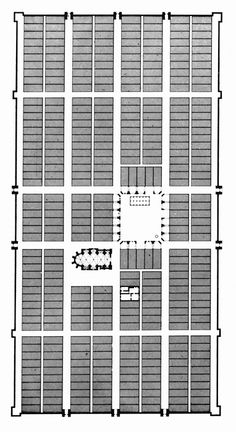 Plan of Monpazier, France, 1284