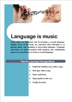 We know that especially small children, really like music. They relate to it as entertainment and find learning vocabulary through songs amusing. Songs associated with hand and arm gestures are even more powerful in engaging children. Learning A Second Language, Teaching Music, Mai, Plays, Vocabulary, Musicals, Songs, Entertainment, Education