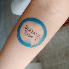 """One month ago my life changed, I got my #diabetictattoo. For me it is not only a tattoo. It is a reminder of my condition, and I look at it every day and…"""