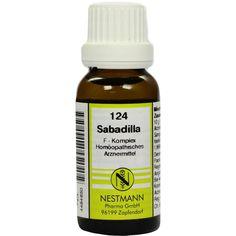 SABADILLA F Komplex Nr.124 Dilution:   Packungsinhalt: 20 ml Dilution PZN: 04484650 Hersteller: NESTMANN Pharma GmbH Preis: 3,84 EUR…