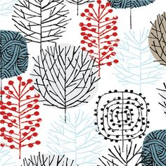 Eloise Renouf - Bark and Branch - Winter Woodland in Berry