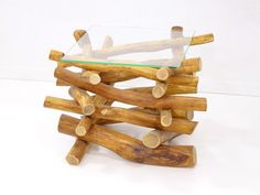 reclaimed wood coffee table of branches with a by FreeTreeStudio
