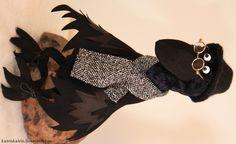 Купить Черный ворон - черный, куклы и игрушки, куклы ручной работы, игрушка в подарок