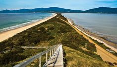About south of Hobart, on Bruny Island How to see it for yourself? The Neck is a narrow isthmus separating north and south Bruny Island. It is south of Roberts Point, where car Tasmania Hobart, Bruny Island, World Of Wanderlust, Visit Melbourne, Visit Victoria, Scenery Photography, Holiday Places, Day Tours, Landscape Photos