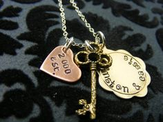 Hand Stamped JewelryPersonalized by mybeadedbutterfly on Etsy, $30.00