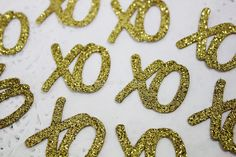 100 XO Confetti  Paper Confetti  Gold Confetti  by pingosdoceu