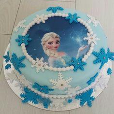 Elsa taart voor Noortje haar 5e verjaardag