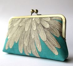 silk clutch purse.