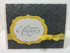 Stampin' Up Wedding Card Happiness Always with by donnainksLa, $4.00