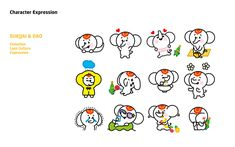 [Character] 라오스 관광홍보 캐릭터 Japanese Characters, Cute Characters, Brand Character, Character Design, Character Illustration, Graphic Illustration, Laos Culture, Industrial Design Sketch, Kids Logo