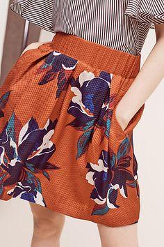 Maira Floral Skirt - anthropologie.com