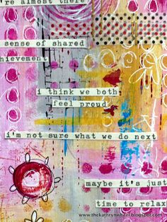 The Kathryn Wheel: Art journaling, and a bit of this 'n' that.