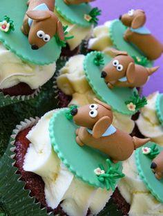 Dachshund cupcakes