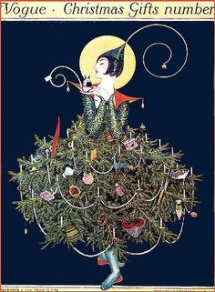 Vintage christmas Tree, Art Deco