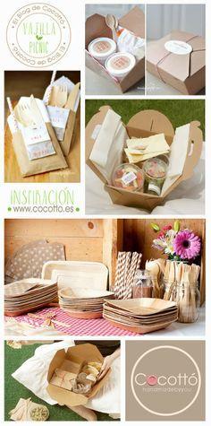 Kraft papel desechable caja de comida para llevar de - Comida para llevar de picnic ...