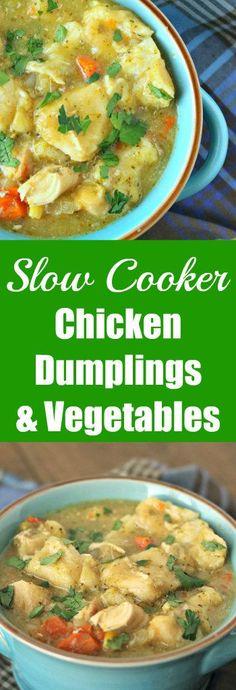 chicken dumplings and vegetables slow cooker