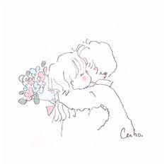 Anime Love Couple, Manga Couple, Couple Art, Cute Couple Drawings, Cute Drawings, Cartoon Sketches, Art Sketches, Cute Art Styles, Dibujos Cute
