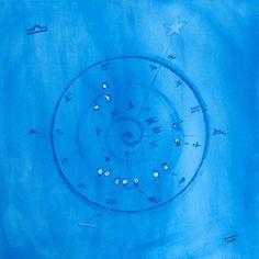 astrological chart on canvas