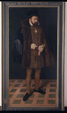 Portrait of Wolfgang Muenzer von Babenberg, Nicolas Neufchatel, oil on canvas, c. 1567, Nuremberg.