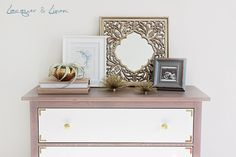 DIY Campaign Style Dresser. Add some glamorous hardware to the Hemnes dresser to create a classic campaign style dresser for your bedroom. Sarah from Laquer & Linen will guide you through the process.