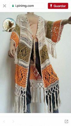 Fabulous Crochet a Little Black Crochet Dress Ideas. Georgeous Crochet a Little Black Crochet Dress Ideas. Crochet Bolero, Crochet Cardigan Pattern, Crochet Jacket, Crochet Blouse, Knit Crochet, Crochet Patterns, Crochet Summer, Crochet Bodycon Dresses, Crochet Fashion