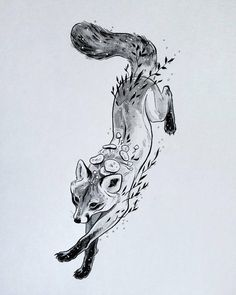 A collection of traditional ink drawings from October of Animal Sketches, Animal Drawings, Drawing Sketches, Face Sketch, Tattoos Skull, Animal Tattoos, Tattoo Drawings, Cool Drawings, Fuchs Tattoo