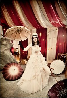 Bella Umbrella Blog - Elegance of Yesterday Re-Imagined for Today - You're Invited: Vintage Circus Wedding Gala for Get Hitched Give Hope