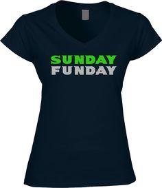 Seahawks Womens Shirt - Sunday Funday
