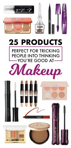 *Buys everything and suddenly becomes a beauty vlogger.*We asked members of the BuzzFeed Community to tell us about the products they use to trick people into thinking they're good at makeup. Here's what they had to say:1. Stop wasting your time struggling to even out your liquid liner, just use the